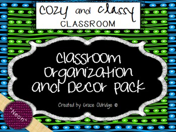 Cozy and Classy Classroom: Organization and Decor Pack {Neon}