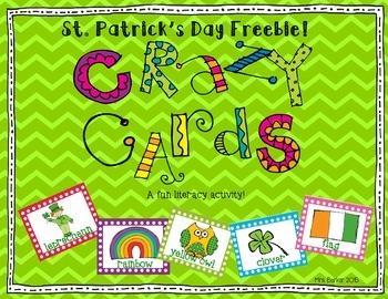 CrAzY CaRdS: St. Patrick's Day FREEBIE!