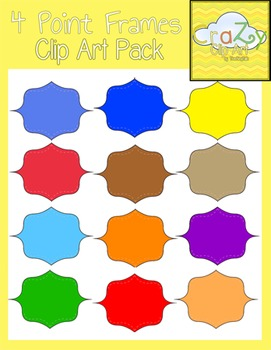4 Point Frames Clip Art Pack {CraZy Clip Art}