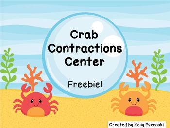 Crab Contractions Center Freebie!