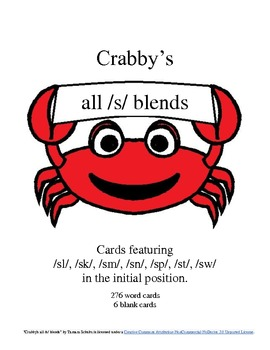 Crabby's Initial /s/ Blends--ALL cards