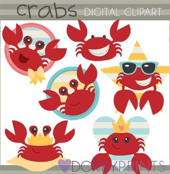 Crabs Summer Clip Art