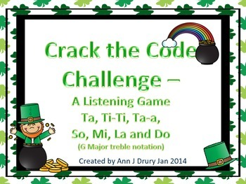 Crack the Code - A Listening Challenge in Treble Notation