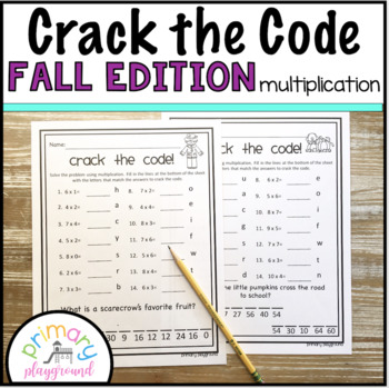 Crack the Code Math Multiplication Fall Edition No Prep