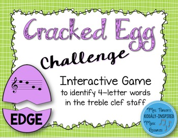 Cracked Egg Challenge Interactive Game {4-Letter Treble Cl