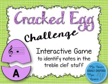 Cracked Egg Challenge Interactive Game {Notes in the Trebl