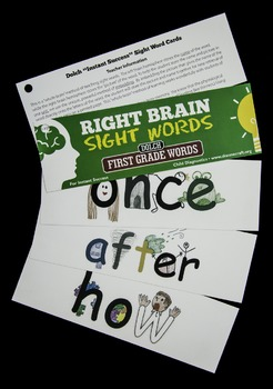 Craft Right Brain Dolch First Grade Sight Words