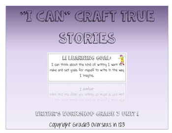 "Crafting True Stories: ""I can"" Statements for Lucy Calkins"