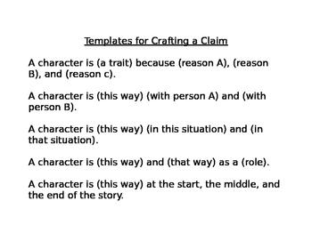 Crafting a Claim