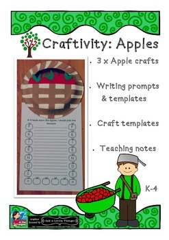 Craftivity: Apples -  Crafts & prompts If friends were lik