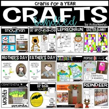 Craftivity Bundle for the WHOLE YEAR     {12 seasonal crafts}