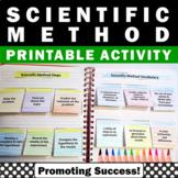 Scientific Method Interactive Notebook Back to School Activities