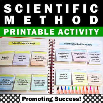 Scientific Method Interactive Science Notebook Craftivity