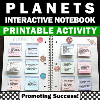 Planets of the Solar System Interactive Science Notebook A