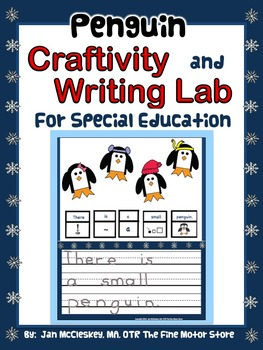 Craftivity:  Penguin Craftivity and Writing Labs for K/1/S