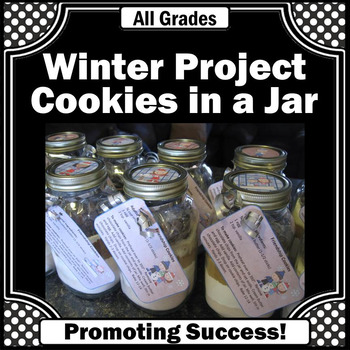 cookies in a jar gift ideas fundraising winter Christmas
