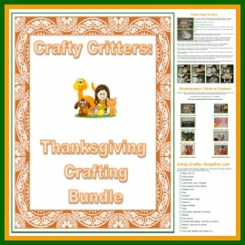 Crafty Critters: Thanksgiving Craft Bundle
