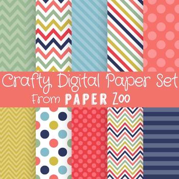 Crafty Digital Paper Set