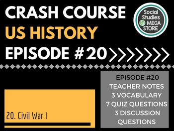 Crash Course Civil War Part I Ep. 20