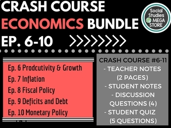 Crash Course Economics Worksheets 6-10