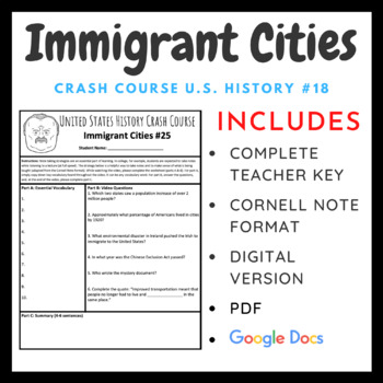 Crash Course U.S. History: Growth, Cities, and Immigration #25
