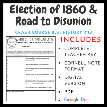 Crash Course U.S. History: The Election of 1860 & the Road