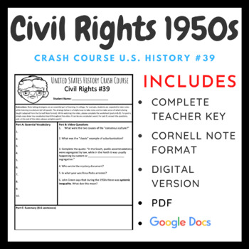 Crash Course U.S. History: Civil Rights and the 1950s #39