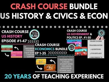 Crash Course US History 1-47 Government & Politics 1-50 &