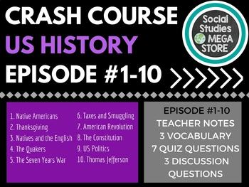 Crash Course US History Ep. 1-10
