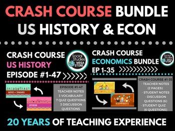 Crash Course US History Ep. # 1-47 & Economics Ep. # 1-35