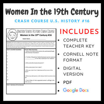Crash Course U.S. History: Women in the 19th Century #16