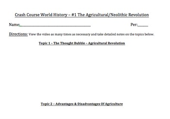 Crash Course World History & Crash Course World History II