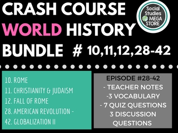 Crash Course World History First Semester  (Ep. 10, 11, 12