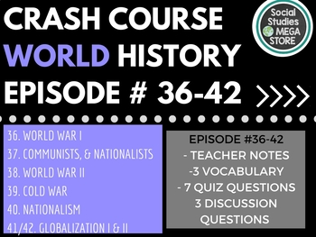 Crash Course World History Second Semester (Ep. 36-42)