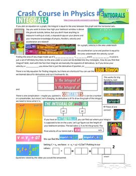 Crash Course in Physics 3 - Integrals