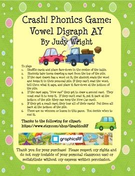 Crash! Phonics Game for Vowel Digraph AY