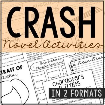 Crash Interactive Notebook Novel Unit Study, No Prep Activ