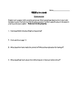 Crash by Jerry Spinelli chapter 5 questions