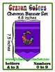 Crayon Chevron Pennant Set - 12 colors - Any Message  - 22
