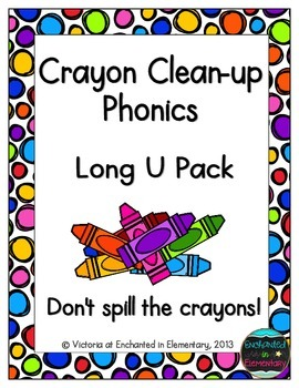 Crayon Clean-Up Phonics: Long U Pack
