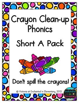 Crayon Clean-Up Phonics: Short A Pack