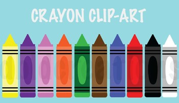 Crayon Clip-Art - Lots of Colors!