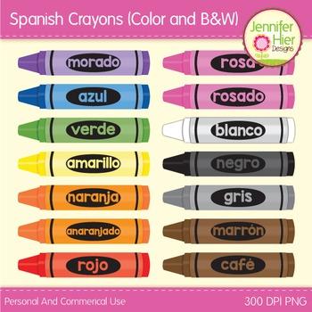 Crayon Clip Art in Spanish