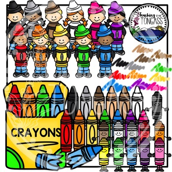 Crayon Clipart Bundle