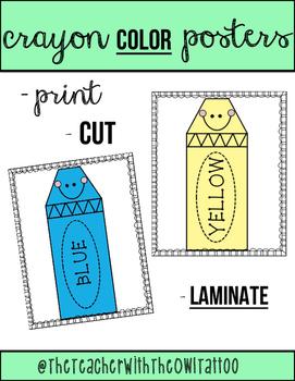 Crayon Color Posters