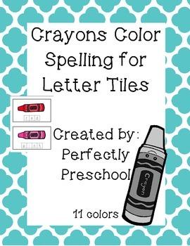 Crayon Color Spelling Tiles