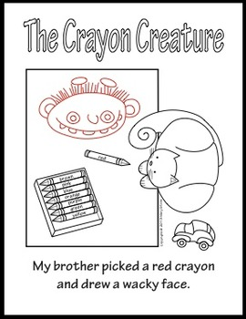 """""""The Crayon Creature"""" A Sequential Story and Worksheet"""