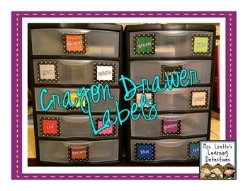 Crayon Drawer Labels {FREE}