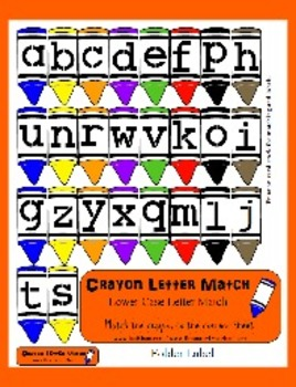 Crayon Letter Match - Lowercase Alphabet Matching - Cute F