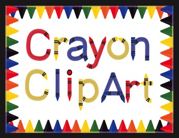 Crayon Letters and Numbers Clip Art